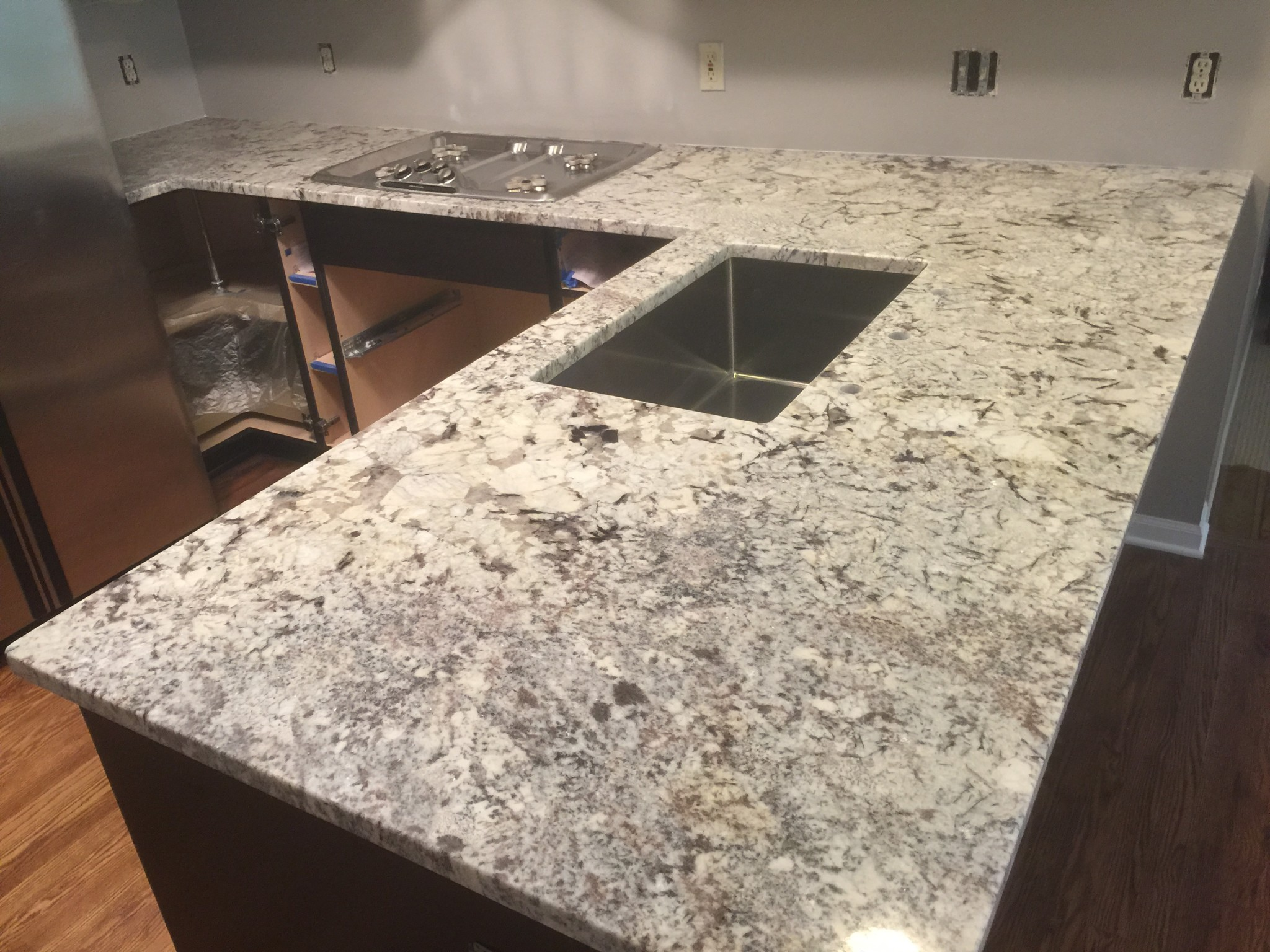 Our Unique Exotic Light Granite Countertop Brings A Style To A Great Home.  Leave Comment