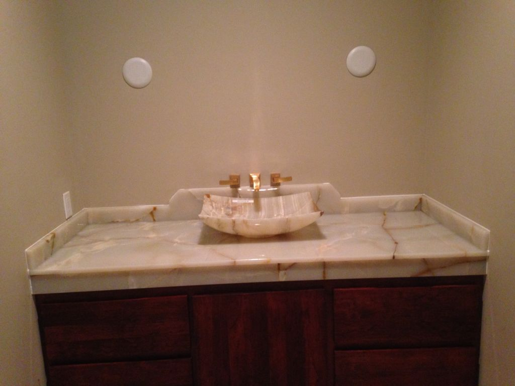 Onyx Bathroom Vanity Top ( Translucent Material ) . ...