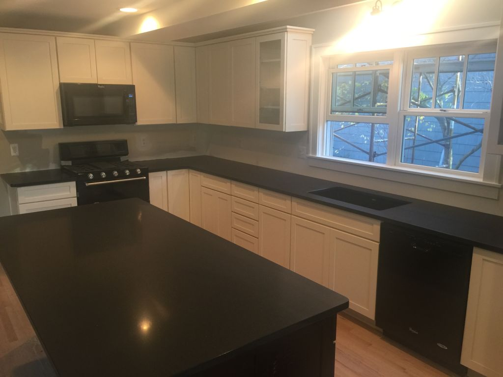 Kitchen Black Granite : Absolute black honed granite countertops for kitchen