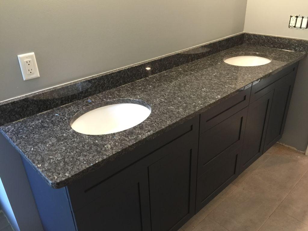 Bathroom Granite Tops - Elegant bathroom granite counter top blue pearl