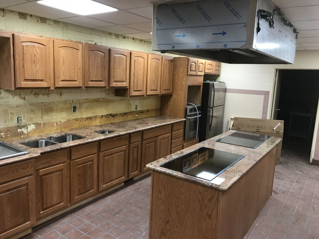 Exceptionnel Red Bordeaux Exotic Countertops For This Church Kitchen Project In Flint  Michigan.